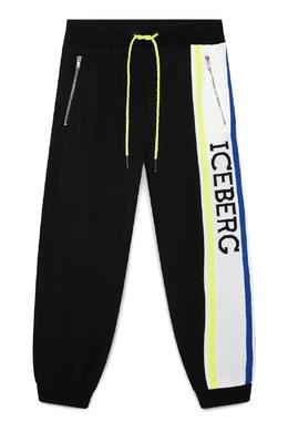 Черные брюки с логотипом Iceberg 1214165979