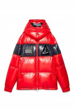 Красная стеганая куртка Moncler 34166000