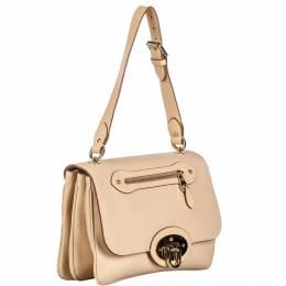 Mulberry Beige Leather Shoulder Bag 244601