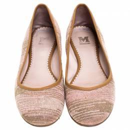 Missoni Multicolor Knit Fabric Ballet Flats Size 38 245712