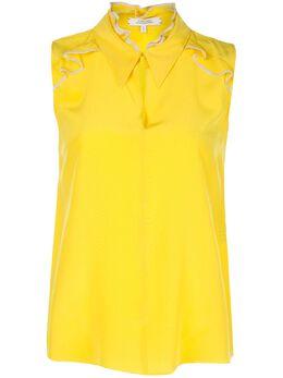 Dorothee Schumacher блузка без рукавов с оборками 649002