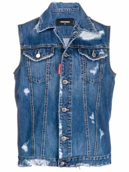 Dsquared2 джинсовая куртка без рукавов S74FB0251S30309