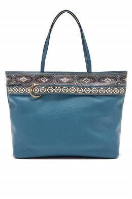 Бирюзовая сумка с узором Etro 907146539