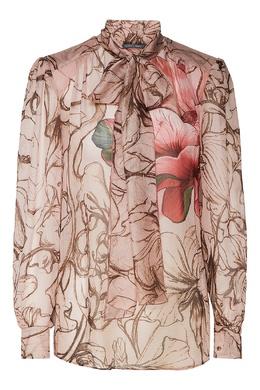 Шелковая блузка с цветочным принтом Alberta Ferretti 1771146826