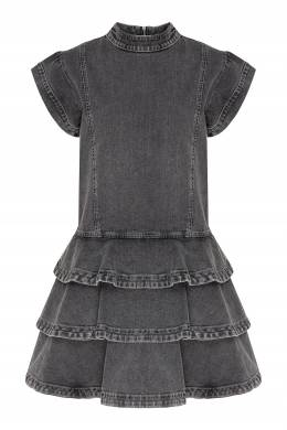Серое джинсовое мини-платье Alberta Ferretti 1771157684