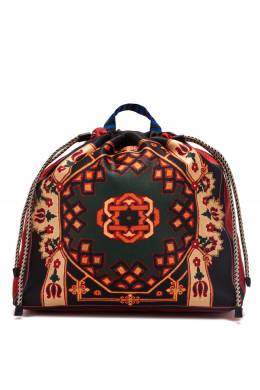 Черный рюкзак-мешок с орнаментами Etro 907158835