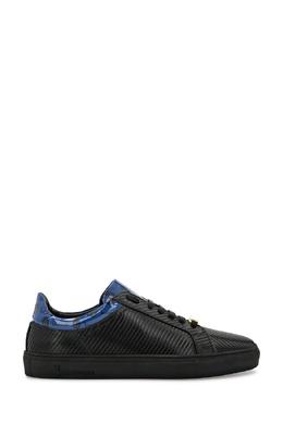 Черные сникерсы с синими кожаными вставками Billionaire 1668155423