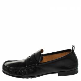 Gucci Black Leather Beyond Penny Loafers Size 40 246103