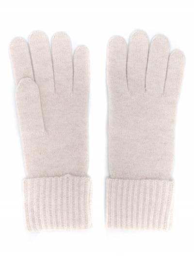 N.peal кашемировые перчатки в рубчик NPA001B - 1