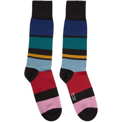 Paul Smith Multicolor Victor Stripe Socks 201260M22009901GB - 1