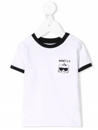 Karl Lagerfeld Kids футболка Bad Boy с карманом CW190068100 - 1