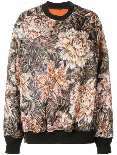 Y-3 стеганые свитер оверсайз с цветочным принтом DP0505 - 1