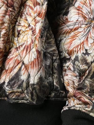 Y-3 стеганые свитер оверсайз с цветочным принтом DP0505 - 5