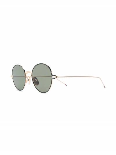 Thom Browne Eyewear солнцезащитные очки в круглой оправе TB915 - 2