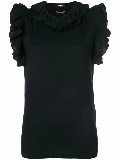 Dsquared2 ruffle-trimmed top S72GD0101S22427 - 1