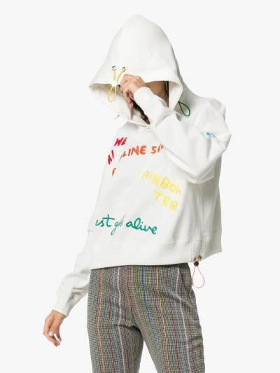 Mira Mikati толстовка с капюшоном и разноцветными вышитыми надписями SWT001AAW18M - 3
