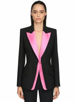 Multi-colored Silk & Satin Jacket Alexander McQueen 71IG12015-MDUxNw2