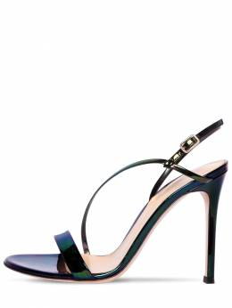 105mm Iridescent Patent Leather Sandals Gianvito Rossi 71IAI4019-QkxBQ0s1
