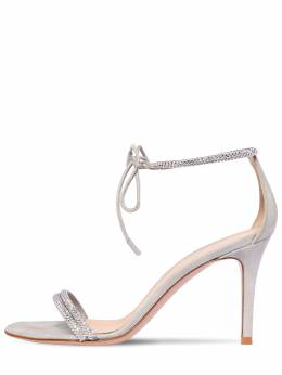 85mm Embellished Lamé Leather Sandals Gianvito Rossi 71IAI4001-U0lMVkVS0