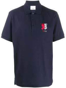 Burberry logo-embroidered polo shirt 8025755