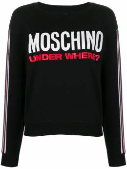 Moschino толстовка с принтом Under Where? A17129001
