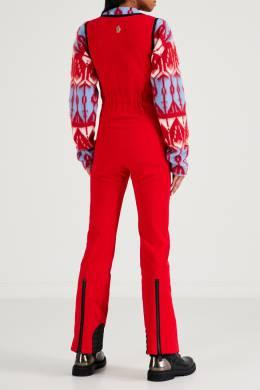 Черно-красный лыжный комбинезон без рукавов Moncler 34166335