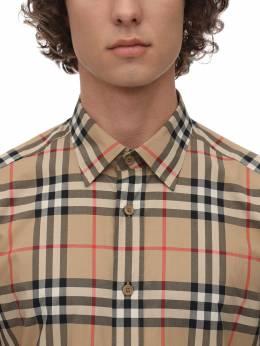 Check Print Cotton Poplin Caxton Shirt Burberry 71IJSJ098-QTcwMjg1