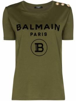 Balmain футболка с логотипом TF11350I386