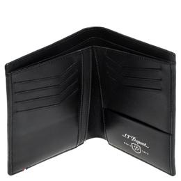 S.T Dupont Black Carbon Leather Business Card Case S.T. Dupont