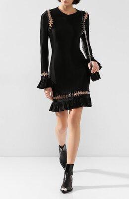 Платье из вискозы Burberry 4562560