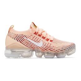 Nike Pink Air VaporMax Flyknit 3 Sneakers 201011F12807405GB