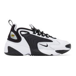 Nike White and Black Zoom 2K Sneakers 201011F12803513GB