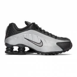 Nike Black and Silver Shox R4 Sneakers 201011F12801813GB