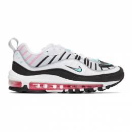Nike White Air Max 98 Sneakers 201011F12803404GB
