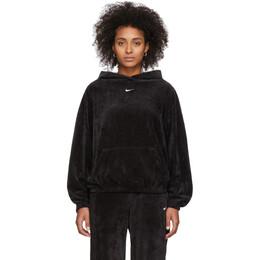 Nike Black Velour Hoodie 201011F09701103GB