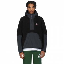Nike Black Sherpa Fleece Pullover Jacket BV3766