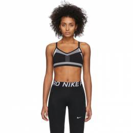 Nike Black and White Flyknit Indy Bra 201011F07313001GB