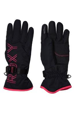 Черные сноубордические перчатки с контрастной отделкой Roxy 2750163839
