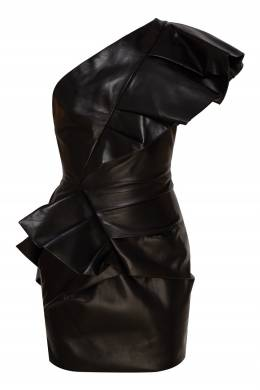 Асимметричное кожаное платье мини Alexandre Vauthier 356166529