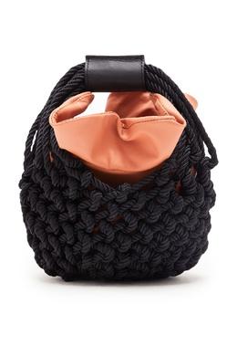Сумка-корзинка с отделкой из кожи Johanna Ortiz 2942166546