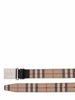 Check Cotton Blend Belt Burberry 71I1US022-QTcwMjg1