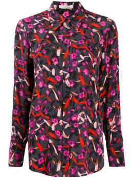 Dorothee Schumacher abstract print long-sleeve blouse 649706