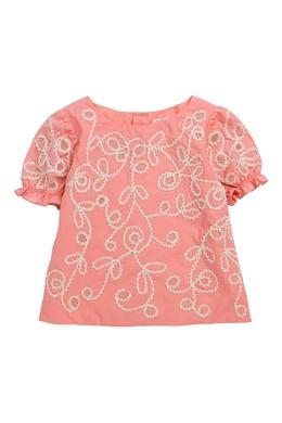 Розовая блузка Bonpoint 1210137936