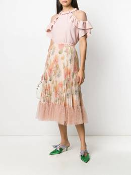 Red Valentino блузка с тюлем TR3AAA954S6