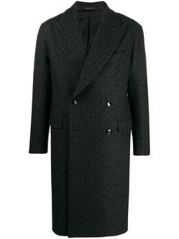 Tagliatore пальто Anson с узором в елочку ANSON34SIC240