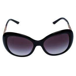 Bvlgari Black Gradient 8199-B Crystal Embellished Cateye Sunglasses