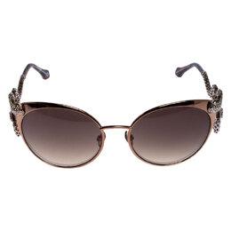 Roberto Cavalli Bronze/Brown Gradient 890S Crystal Menkalinan Cat Eye Sunglasses 246549
