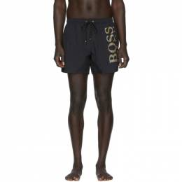 Boss Black and Gold Icefish Swim Shorts 201085M20808504GB