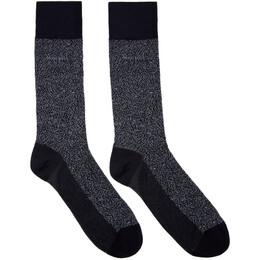 Boss Navy Mercerized Mini Pattern Socks 201085M22010801GB