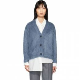 Ports 1961 Blue Mohair Fully Fashioned Cardigan 192780F09500401GB